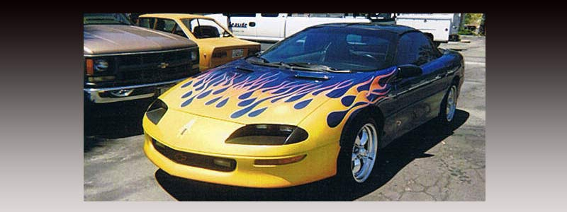 Custom flame paint jobs by Parker Airbrush