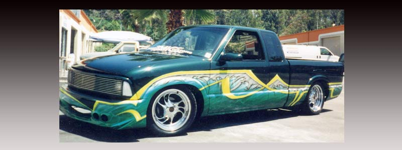 Custom airbrush auto graphics artwork in San Diego and Oceanside California