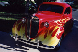 Airbrushing flames custom auto paint in San Diego County, North San Diego and Oceanside California, hot rods, low riders, classic cars, motorcycles, flame paint jobs