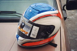 Helmet airbrushing in North San Diego County, Oceanside, California, Professional helmet airbrush painting