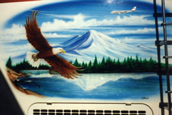 Mural airbrushing custom paint jobs in San Diego