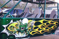Sandcar airbrushing in San Diego County, Professional airbrush custom paint job
